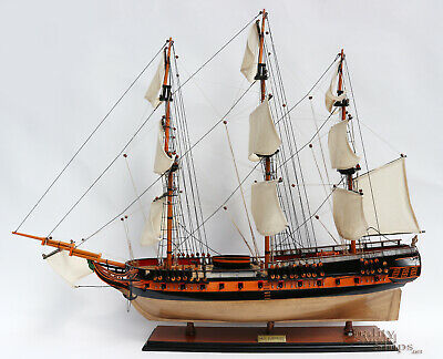 """HMS Surprise Handcrafted Ship Model 38"""" Full Assembled Ready for Display"""