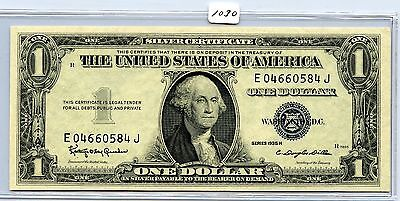 W ITH MOTTO UNC 1 $1 1935G SILVER CERTIFICATE CURRENCY STAR * RARE