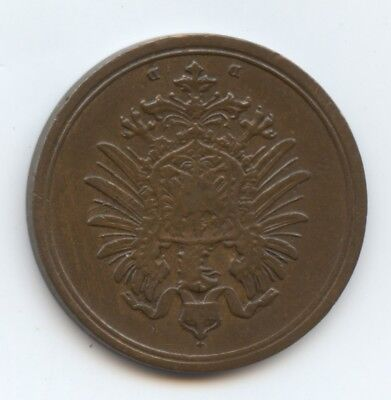 Germany 1874D 1 Pfennig Coin (#1243) Looks XF. Carefully Check out the Photos.