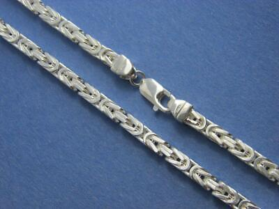 6MM MENS SQUARE Byzantine Bracelet or Chain Necklace Real