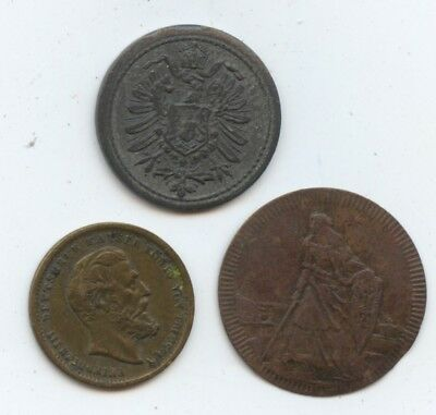 Germany 3 Diff. Old Spiel markes (#1278) Carefully Check out the Photos.