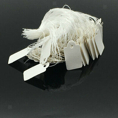 1000xBlank Writable Price Tags Paper Cards with String Jewelry Clothing Tags