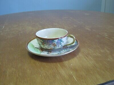 Vintage Hand Painted Soko China Teacup And Saucer Set From Japan - Chipped