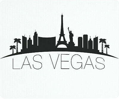 Vance 12 X 10 inch Las Vegas Skyline Saver Tempered Glass Cutting Board