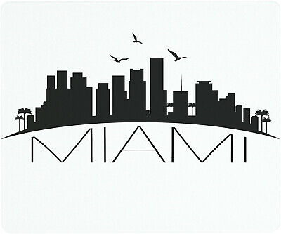 Vance 12 X 10 inch Miami Skyline Saver Tempered Glass Cutting Board