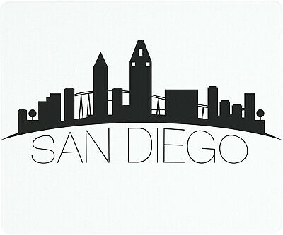 Vance 12 X 10 inch San Diego Skyline Saver Tempered Glass Cutting Board