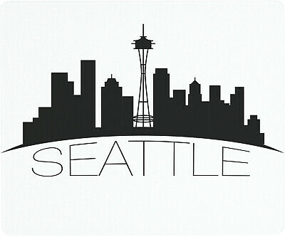 Vance 12 X 10 inch Seattle Skyline Saver Tempered Glass Cutting Board