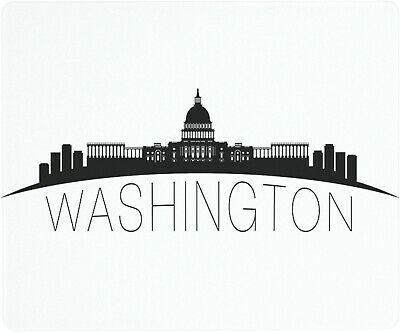 Vance 12 X 10 inch Washington DC Skyline Saver Tempered Glass Cutting Board