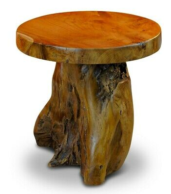 Root Wood Table 40cm Wood Side Table Tree Trunk Wooden Table Coffee Table Rustic