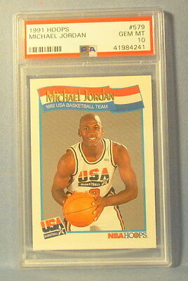 889cf28b8ea 1991 92 Hoops Michael Jordan Psa 10 1992 Usa Olympic Basketball Dream Team  579