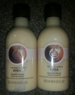 The Body Shop Shea Shower Cream Lot of 2 Full Size 8.4 oz NEW!