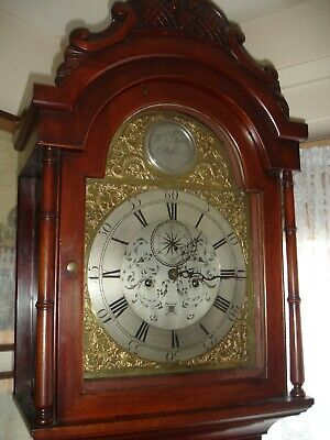 George The 3Rd 8 Day  Mahogany Brass Arch Dial Longcase Clock /Utube Video