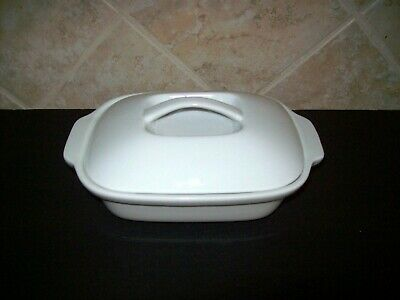 Extra Large White BUTTER Dish Simple Dining