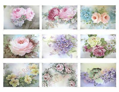 Vintage HP Floral Roses GIFT TAGS, CARD-MAKING, Jewelry Cards, Labels, Crafts+