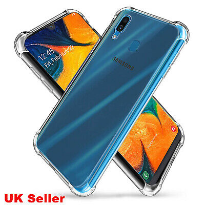 Bumper Case For Samsung A20 A30 A50 A70 Phone Cover Clear Gel Edge Shockproof