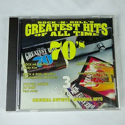 Rock N Roll's Greatest Hits of All Time 70's Vol 3 Various CD 1995 CEMA Records