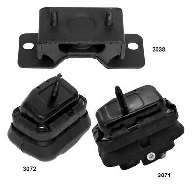 03-11 Lincoln Town Car 09-11 Engine /& Trans Mount Set 3PCS for Ford Crown Vict