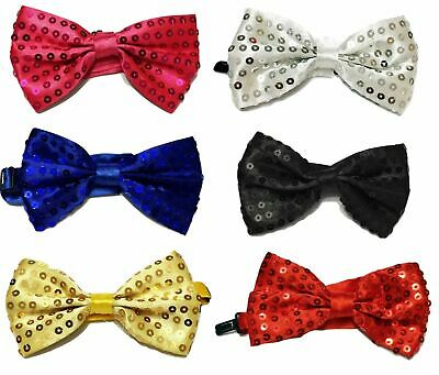 43453c97e05d Unisex Bow Tie Glitter Sparkly Sequin Dickie Dicky Dance Party Fancy Dress