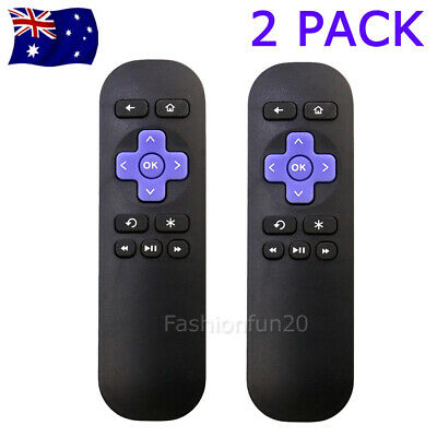 2PCS Replacement Remote Control for ROKU 4 3 2 1 Streaming Player Telstra TV 1&2