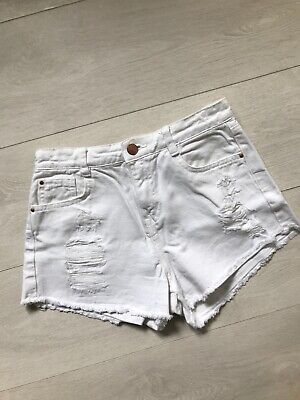 245def9ed5c2b ZARA HOTPANTS SHORTS Jeans Blau Destroyed Usedlook Denim Jeans Basic ...
