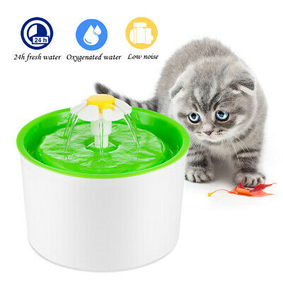 Automatic Cat Dog Water Drinking Flower Fountain Pet Bowl Drink Dish Filter Bowl