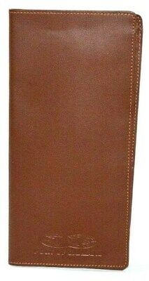 Brown Leather Passport Holder Leeman Designs Cowhide Ticket Travel Organizer