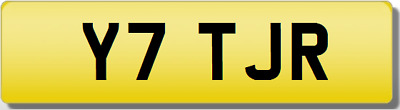 TJR YT YTT JR TR Y7 Private CHERISHED Registration Number Plate RARE 5 DIGIT TJR