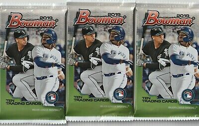 (3) Pack Lot Of 2019 Bowman Baseball! NEW Factory Sealed! FROM MEGA BOX!!!