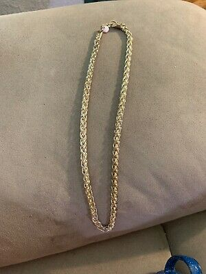 Milor Italy Sterling Silver .925 Byzantine Chain Necklace