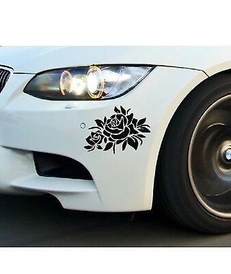 1 pc Rose flower Sticker Car Bumper Van Window Laptop JDW VINYL Decals Stickers