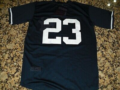 f0e5a10c New!!! Don Mattingly #23 New York Yankees Mesh Blue Baseball Jersey Men's