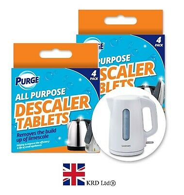 4x DESCALER TABLETS Limescale Descaling Cleaning Coffee Machine Kettle Iron Pack
