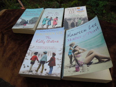5 Maureen Lee Books - Kelly Sisters - Mother Of Pearl - After the War is Over