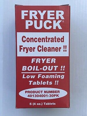 Fryer Puck 401304001 4oz Deep Fryer Cleaner Tablets 5 Tabs 4oz Tablets  Per Box