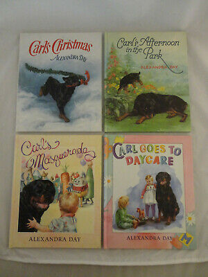 Lot of 4 Carl the Rottweiler Children's Books by Alexandra Day HC
