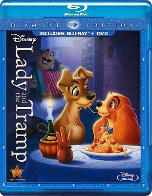 Disney's Lady and the Tramp (Blu-ray/DVD, 2012, 2-Disc Set) *Includes Slipcover*