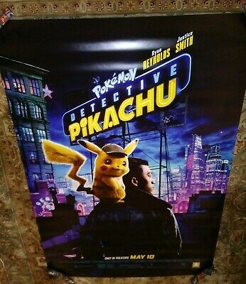 Detective Pikachu Pokemon Original Double Sided Theater Bus Shelter 4 ft X 6 ft