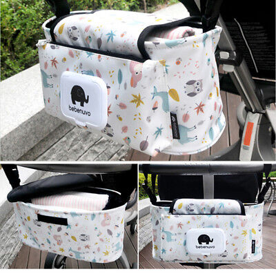 Hanging Bag Stroller Accessory Nylon Bottle Organizer Baby Carriage Storage  Eh