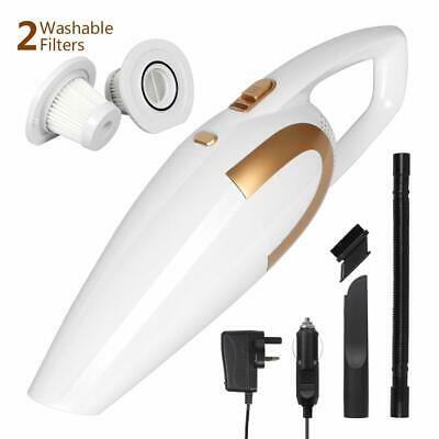 Portable Cordless Handheld Vacuum Wet Dry Lightweight Rechargeable With Cylinder