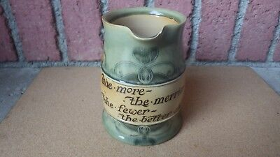 ANTIQUE ROYAL DOULTON ARTS & CRAFTS MOTTO WARE STONEWARE JUG PITCHER c 1902-22