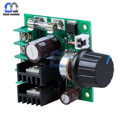 DC 12V-40V 10A PWM Current Motor Speed Contriller Regulator Dimmer Module+Knob