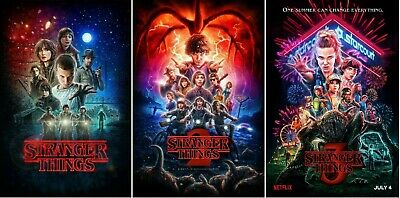 Stranger Things Season 1 2 3 Collector Art Posters (Set of 3) NEW - 11x17 13x19