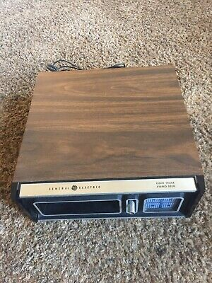 VINTAGE GENERAL ELECTRIC 8-TRACK STEREO PLAYER MODEL TA560B, WORKS *Read Details