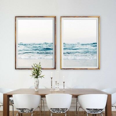Coastal Decor Beach Sea Picture Ocean Waves Canvas Prints Wall Art Photography