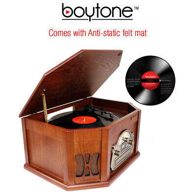 Refurb 8-in-1 Boytone BT-25MB with Bluetooth Connection Natural wood Classic Tur