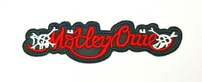 Motley Crue Iron on Sew Embroidered Patch rock band Dr Feelgood Nikki Sixx Mars