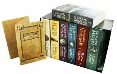 A Game of Thrones Song of Ice and Fire 7 Volume Book Set George R.R. Martin New
