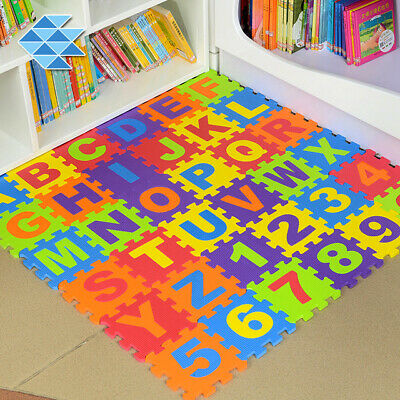 36 x Baby EVA Foam Play Mat Alphabet Numbers Puzzle Floor Tile Jigsaw Crawl Game