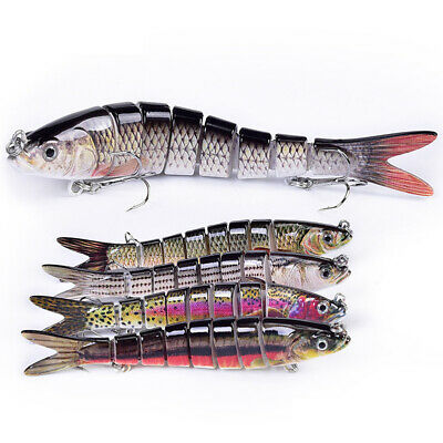 1X Pike Life-Like Lures Saltwater Fishing Bait Crankbait 14cm 4# Hooks CHK