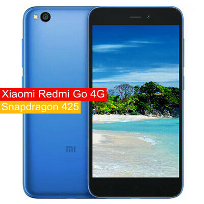 "5"" Xiaomi Redmi Go 4G Móvil Smartphone Snapdragon 425 4 Core ROM 8GB Global Azul"